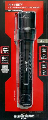 SureFire FURY 1000/15 Lumen Dual-Output LED Flashlight P3XC-A