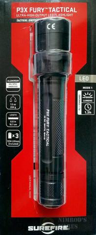 SureFire FURY 1000 Lumen Single-Output Tactical Flashlight P3XT-A