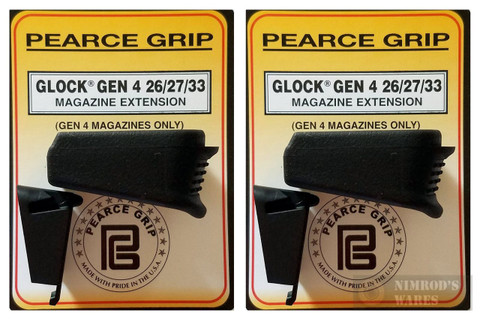 Pearce Grip Gen4 Glock 26 27 33 39 Grip Extension PLUS PG-G42733