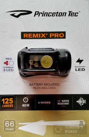 Princeton Tec Remix Pro 125 Lumen 4 Mode LED HEADLAMP HYBL123-RD-BK