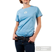 MAGPUL Center Icon Women's T-Shirt Light Blue S MAG623-BLU-S