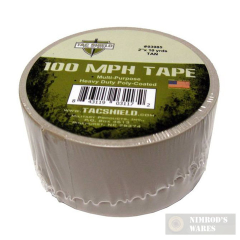 Tac Shield 100MPH Heavy Duty Tactical TAPE 10yds TAN 03985