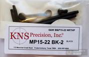 KNS S&W M&P15-22 Non-Rotate Trigger/Hammer Pins (GEN 2 MOD 2) Black MP15-22NRTHP
