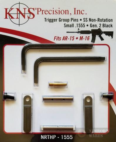 "KNS Precision Gen2 BLK Non-Rotation .1555"" Pins NRTHP-1555"