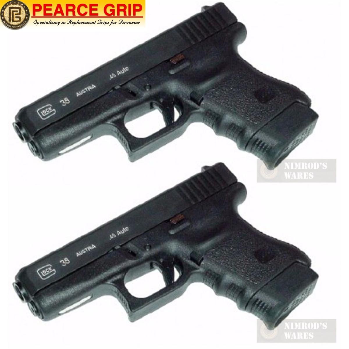 Pearce Grip GLOCK 36 G36 Grip Finger EXTENSION 2-PACK PG-360