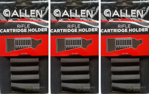 3-PACK Allen Company 206 Rifle Buttstock Holders - Holds 9 Rounds
