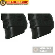 Pearce Grip GLOCK 26 27 33 39 PLUS Ext. +3/+2/+1 9mm 40SW 45GAP PG39 2-PACK