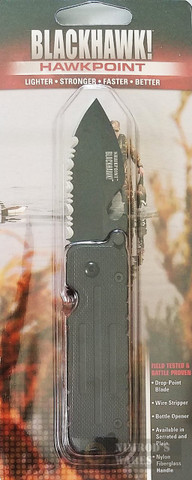 BLACKHAWK Hawkpoint FOLDING KNIFE Serrated EDGE 15HP11BK