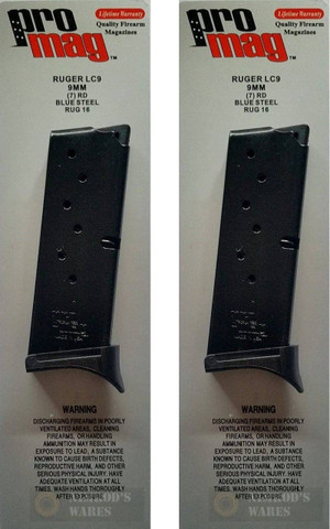 2-PACK ProMag RUGER LC9 9mm 7-Rd Steel Magazine RUG16