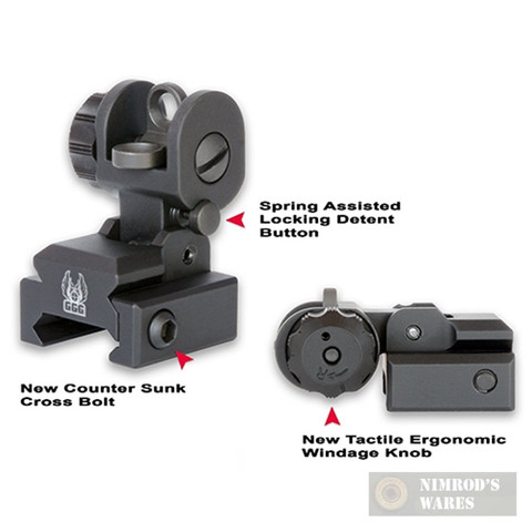 GG&G A2 Flip-Up REAR Back Up Iron Sight BUIS 1005