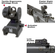 GG&G A2 Spring Actuated REAR Back Up Iron Sight BUIS 1005SA