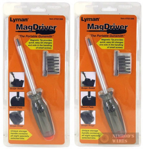 "2-Pack LYMAN MAGDRIVER Screwdrivers w/ 8 Bits ""Portable Gunsmith"" 7031268"