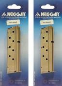 2-PACK Mec-Gar 1911 .40 S&W 8 Round Nickel Magazines MGCGOV40N
