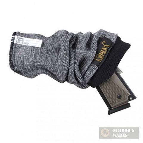 """SACK-UPS 5-Pack 13.5"""" Pistol Handgun PROTECTION Socks Gray 207"""