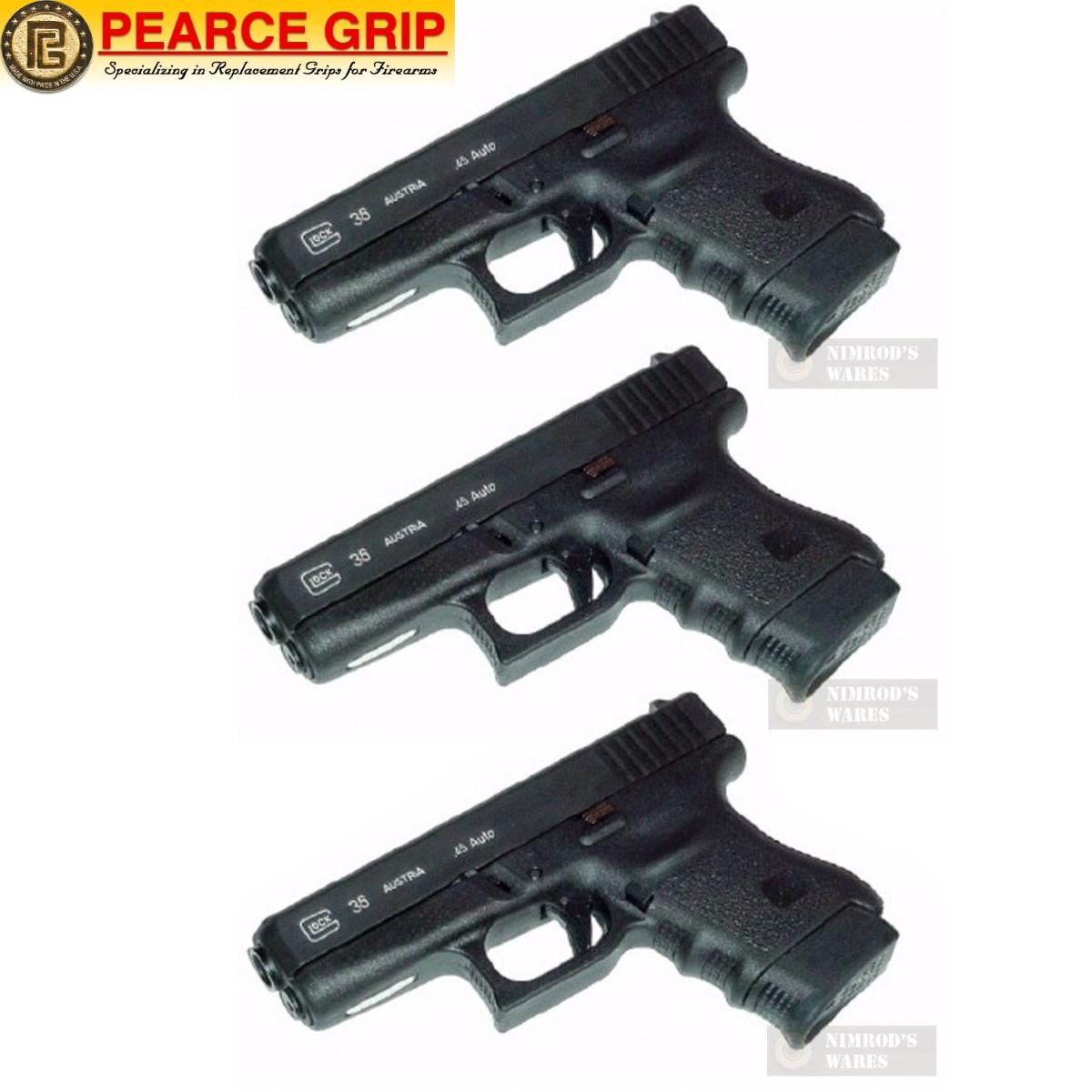 Pearce Grip GLOCK 36 G36 Grip Finger EXTENSION 3-PACK PG-360