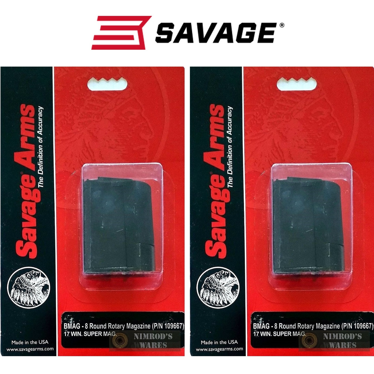 Savage Arms A17 17 HMR 10 Round Magazine Rotary 10rd Mag 90022 Factory OEM NEW