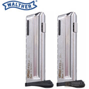 WALTHER P22Q 22LR 10 Round Magazine 2-PACK w/ Finger Rests 512604