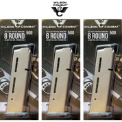 Wilson Combat 1911 Gov't MAGAZINE 3-PACK ELITE TACTICAL .45 ACP 8 Rounds 500