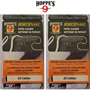 Hoppe's BoreSnake Pistol Cleaner 2-PACK .22 caliber 24000