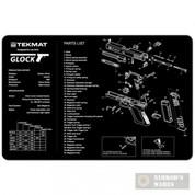 TekMAT GLOCK Pistol Handgun Bench Cleaning Gunsmithing MAT 17-GLOCK