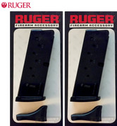 2-Pack Ruger LC9 LC9S 9mm 7-Round Magazines 2 x Floorplates 90363