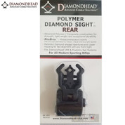 DIAMONDHEAD Diamond REAR SIGHT w/ NiteBrite Polymer Black 1401