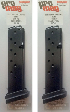 2-Pack ProMag HIP03 HI-POINT 995 995TS 9mm 10 Round Magazines