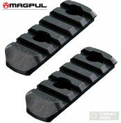 MAGPUL MAG406-BLK MOE Polymer Rail Sections L2/5 Slots 2-Pack