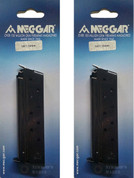 2-Pack Mec-Gar 1911 Colt 10mm 8-rd Carbon Steel Magazines MGCGOV10B