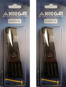 2-Pack Mec-Gar SIG SAUER P226 9mm 10 Round Nickel Magazines MGP22610N
