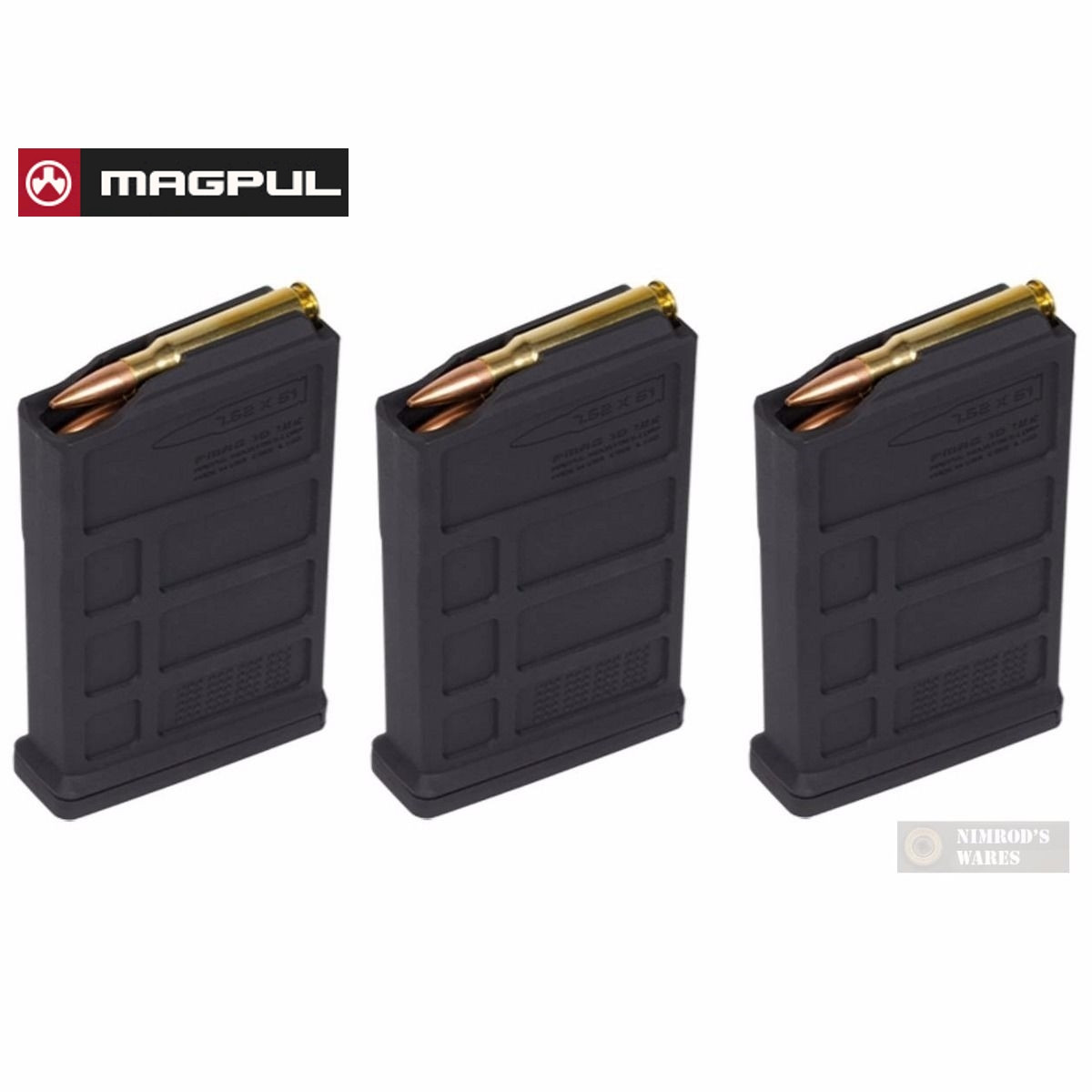 3 pack magpul hunter 7 62 ac aics short action 10 round magazine