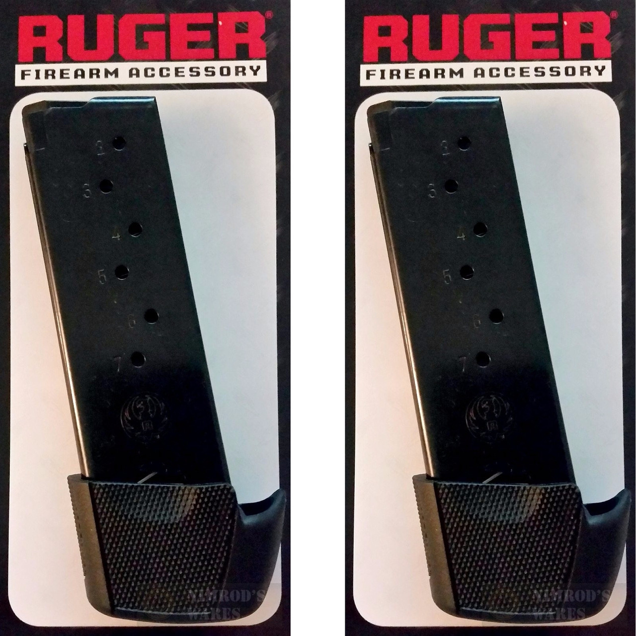 RUGER LC9 LC9S 9mm 9 Round MAGAZINE 2-PACK + Grip Extensions 90404
