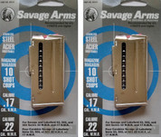 Savage 93 305 310 502 503 Ser. 22WMR/17HMR 10Rd Magazine 2-PACK 90019
