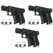 Pearce Grip PG-19 3-PACK GLOCK Mid/Full-Size Contoured Grip Extensions
