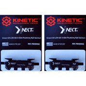 KINETIC Single 3 Slot QD / Quick Detach M-LOK Rail Section 2-PACK KIN5-100