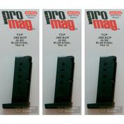 3-PACK ProMag Taurus TCP PT-738 .380ACP 6 Round Magazines TAU18