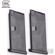 GLOCK 43 G43 9mm 6 Round MAGAZINE 2-PACK Bulk Packaging 43106