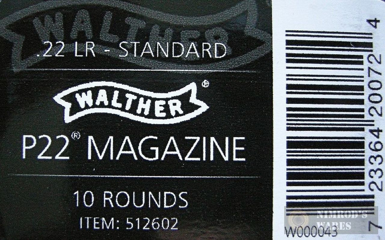 Walther P22 22LR 10 Round Standard SS Magazine 2-PACK 512602