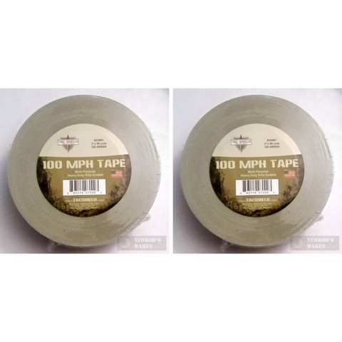 TAC SHIELD 100MPH Heavy Duty Tactical TAPE 2-PACK 60yds OD 03981