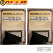 Pearce Grip GLOCK Gen4 Ext. PLUS +2-9mm/.40/357 +1-45GAP PG-G4+ 2-PACK