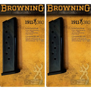 BROWNING 1911-380 .380ACP 8 Round Steel MAGAZINE 2-PACK OEM 112055192