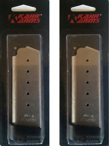 Kahr PM45 45 ACP 6 Round Magazine 2-PACK w/ Extensions K625G