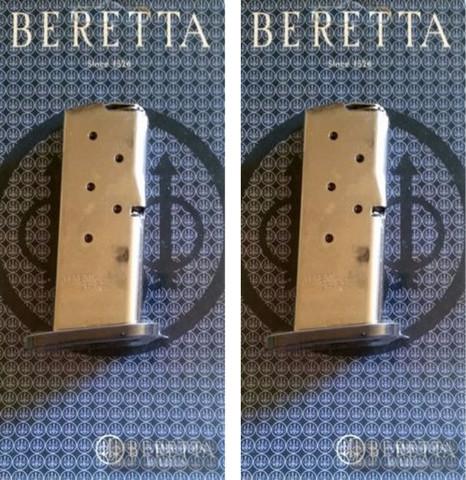 Beretta JM6NANO9 BU9 Nano 9mm 6Rd SS Magazine 2-PACK