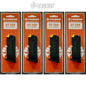 Taurus PT-709 Slim 9mm 7 Round MAGAZINE 4-PACK 5-10709 510709