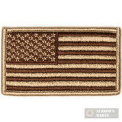 Tac Shield US American Flag Insignia PATCH Coyote Subdued 03802
