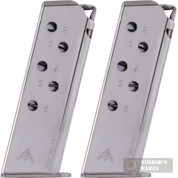 WALTHER PPK .380 6 Round Nickel MAGAZINE 2-PACK MGWPPKSTN
