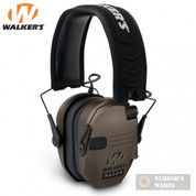 WALKER's RAZOR SLIM Low Profile EARMUFFS NRR 23dB GWP-RSEM-FDE