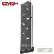 Chip McCormick 1911 POWER MAG+ .45 ACP 8 Round SS MAGAZINE 12131