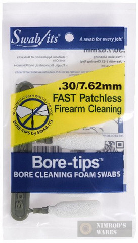 Swab-its .30cal 7.62mm Bore-tips 6-pk Firearm Cleaning Swabs 41-3001