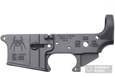 Spike's SPIDER Forged Stripped LOWER RECEIVER Multi-cal / Bullet Markings STLS019